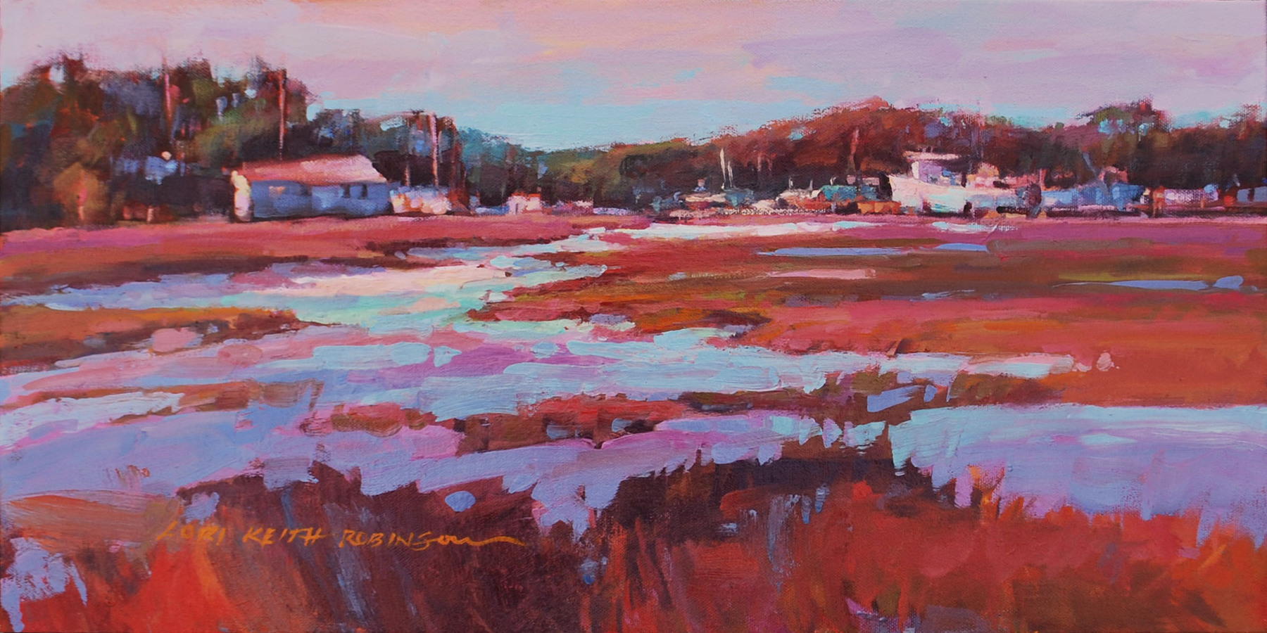 SOLD Evening Lullaby 12x24 o/c  - Lori Keith Robinson