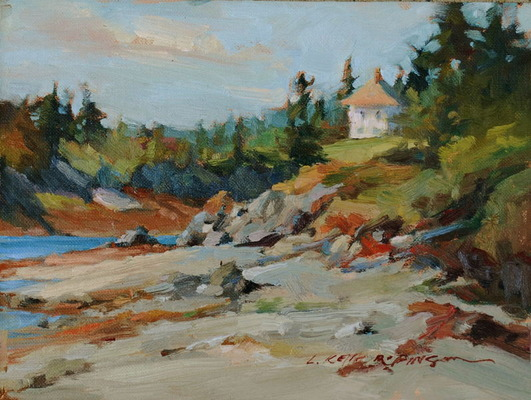 2008 CANADA - Deer Island Lifestyle 11x14 oil on panel - Lori Keith Robinson