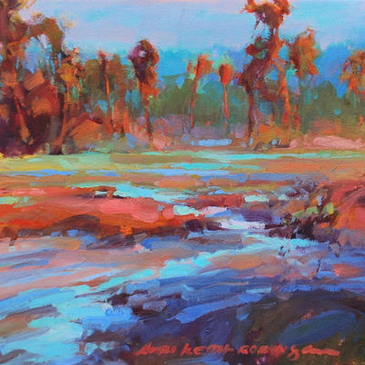 SOLD Hope Palms 12x12 oil on canvas  - Lori Keith Robinson