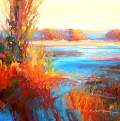 SOLD O Beautiful Sweet Land 20x20 o/c  - Lori Keith Robinson