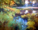 SOLD Marsh Island Stream 48x60 oil on canvas